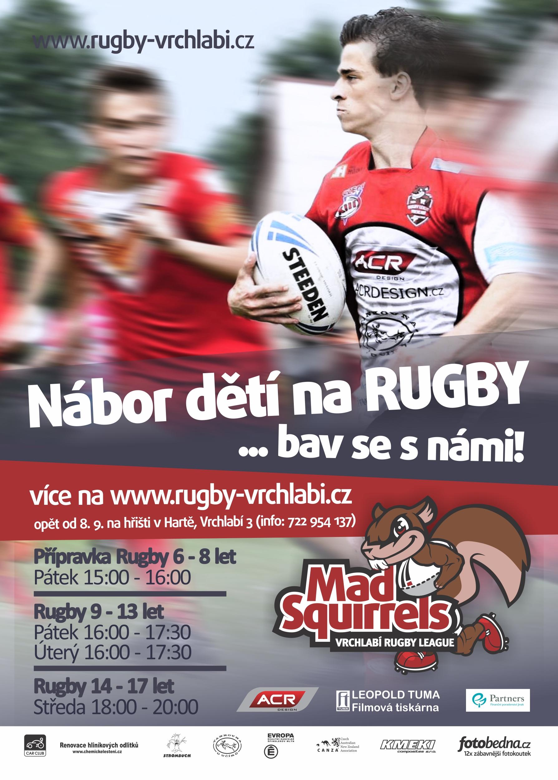 Nábor dětí rugby Vrchlabí 2017